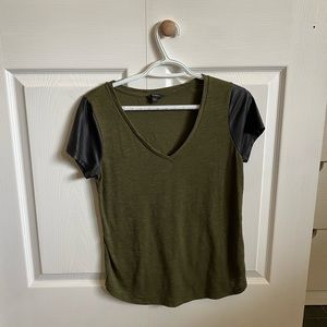 army green guess top